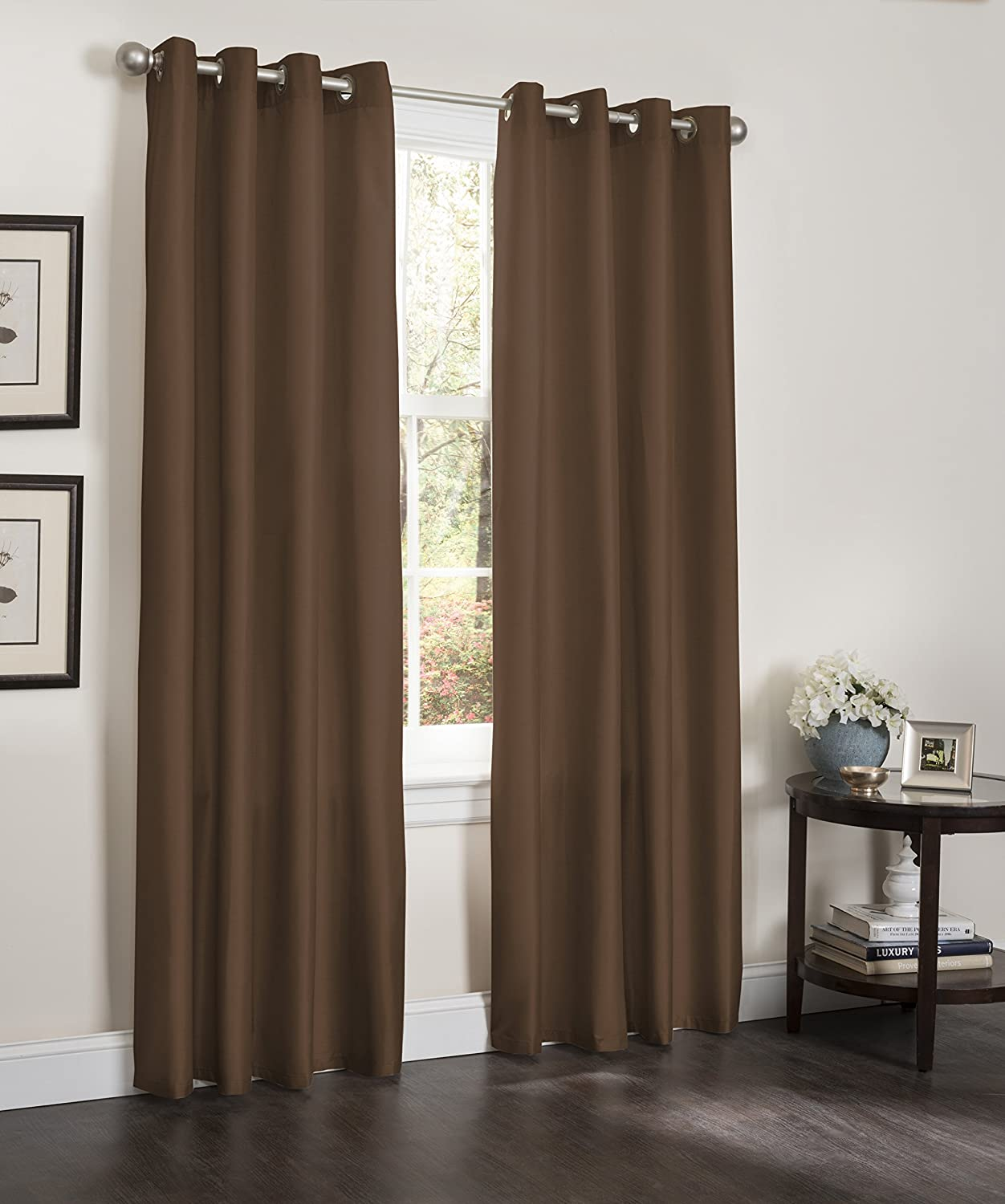 Amazon.com: 2 Blackout Window Curtain Panels, Foam Back Lined Curtains,  Thick Erin Panels, 55x90 (Black): Home & Kitchen
