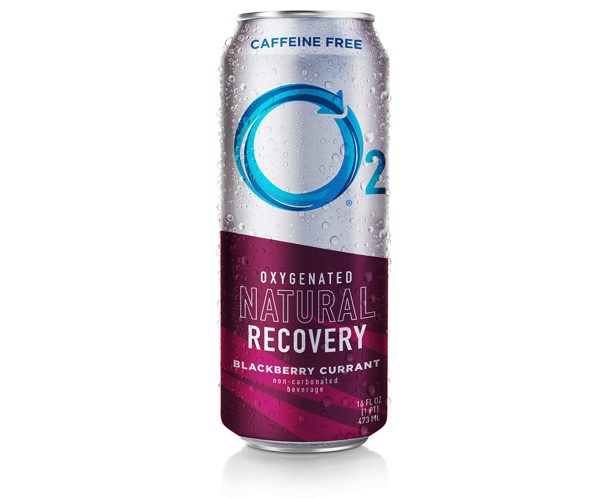 O2 Natural Recovery 12 Pack Oxygentated Recovery Drink, BlackBerry, 16 Fluid Ounce
