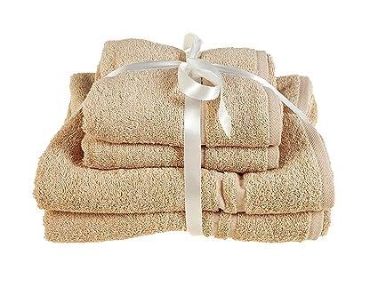 Juego de 4 toallas de ALLURE Fashions Hotel Essentials. Incluye 2 toallas de mano de