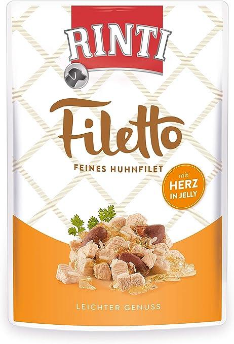 RINTI Filetto - Filete de Pollo con corazón en gelatina (24 x ...