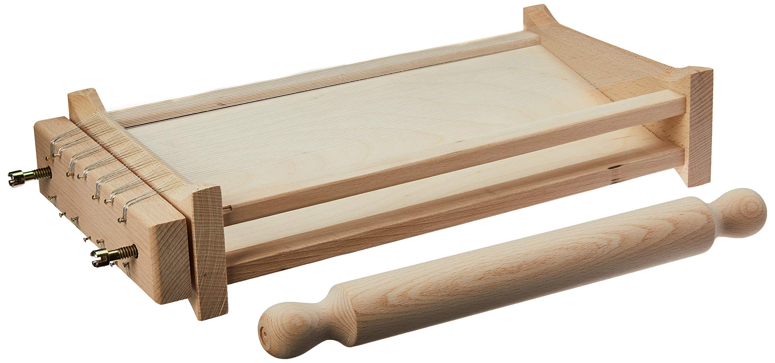 Eppicotispai''Chitarra'' Pasta Cutter with 32cm/12.5-Inch Rolling Pin