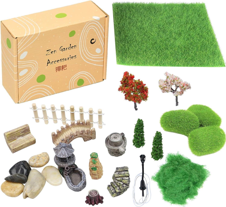 Accesorios de jardín DIY zen, miniaturas de jardín de hadas, decoraciones de caja de arena, miniaturas de jardín de mesa zen, accesorios de jardín de hadas, figuras de jardín caseras: Amazon.es: Juguetes