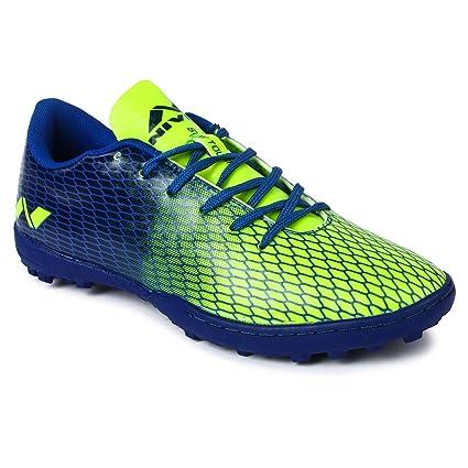 d74c771aa624 Nivia Stay Tough Training HG Football Shoes, Men's 3 UK (Blue/Green)