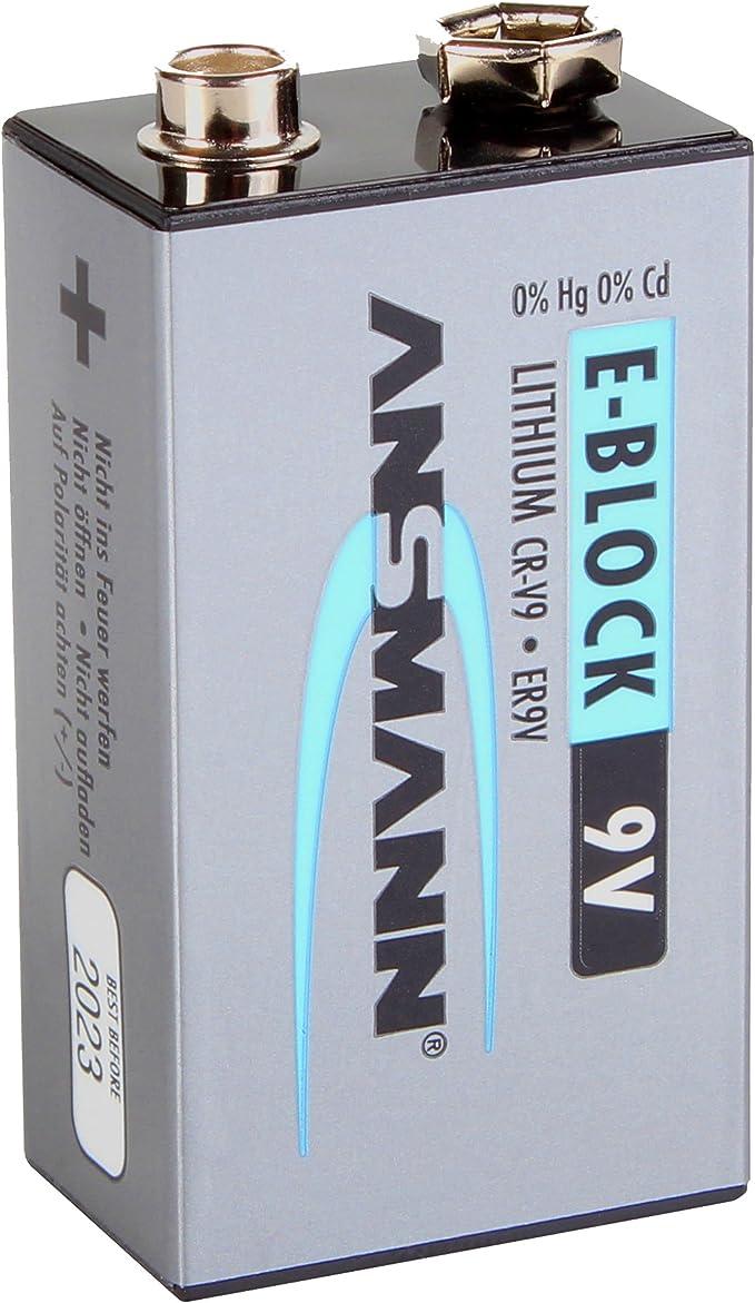 Ansmann 9v Extreme Lithium Batterie Speziell Für Rauchmelder 9v E Block Er9v Cr V9 1100mah