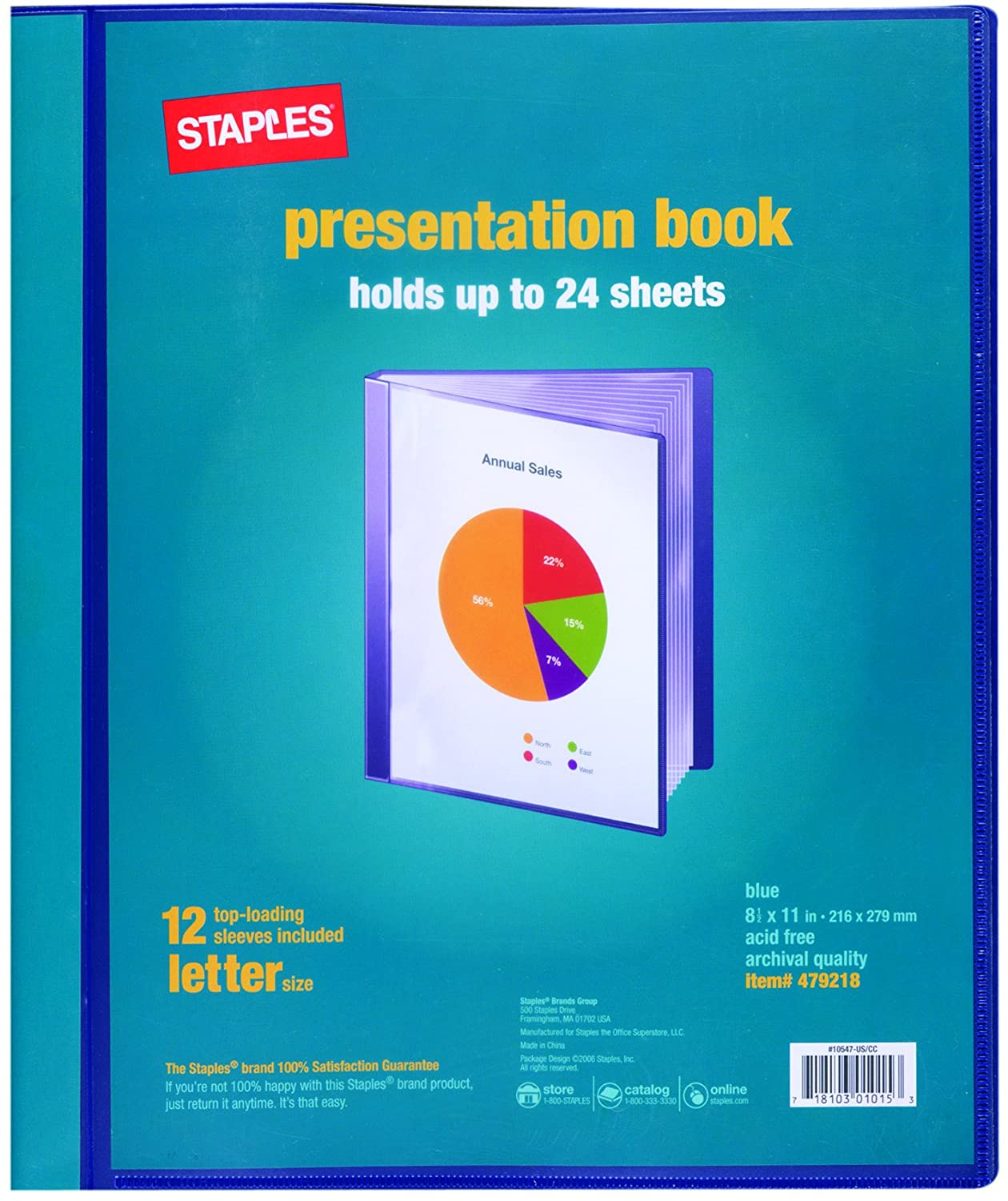 staples presentation book 12 individual sleeves 50 off