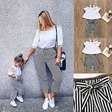 UK/_ LC/_ Baby Girl/'s Summer Bowknot Sleeveless T-shirt Skirt Pants Clothing Set
