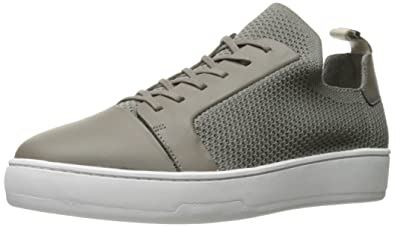 Leather Knit Sneakers Calvin Klein li7Q2uZbMl