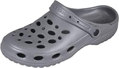 kenbo Hombre Jardín Zueco Zapatos – Zapatillas Gris, Color Gris, Talla 43: Amazon.es: Zapatos y complementos