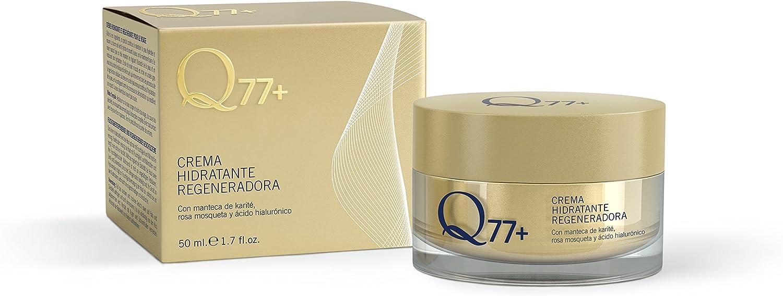 Q77+ Crema hidratante regeneradora facial | Con Ácido Hialurónico ...