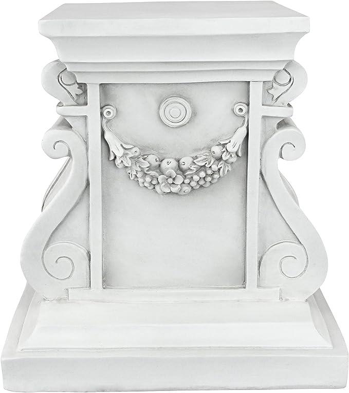 Small concrete stone plinth column pedestal aged roman style plinth garden orna