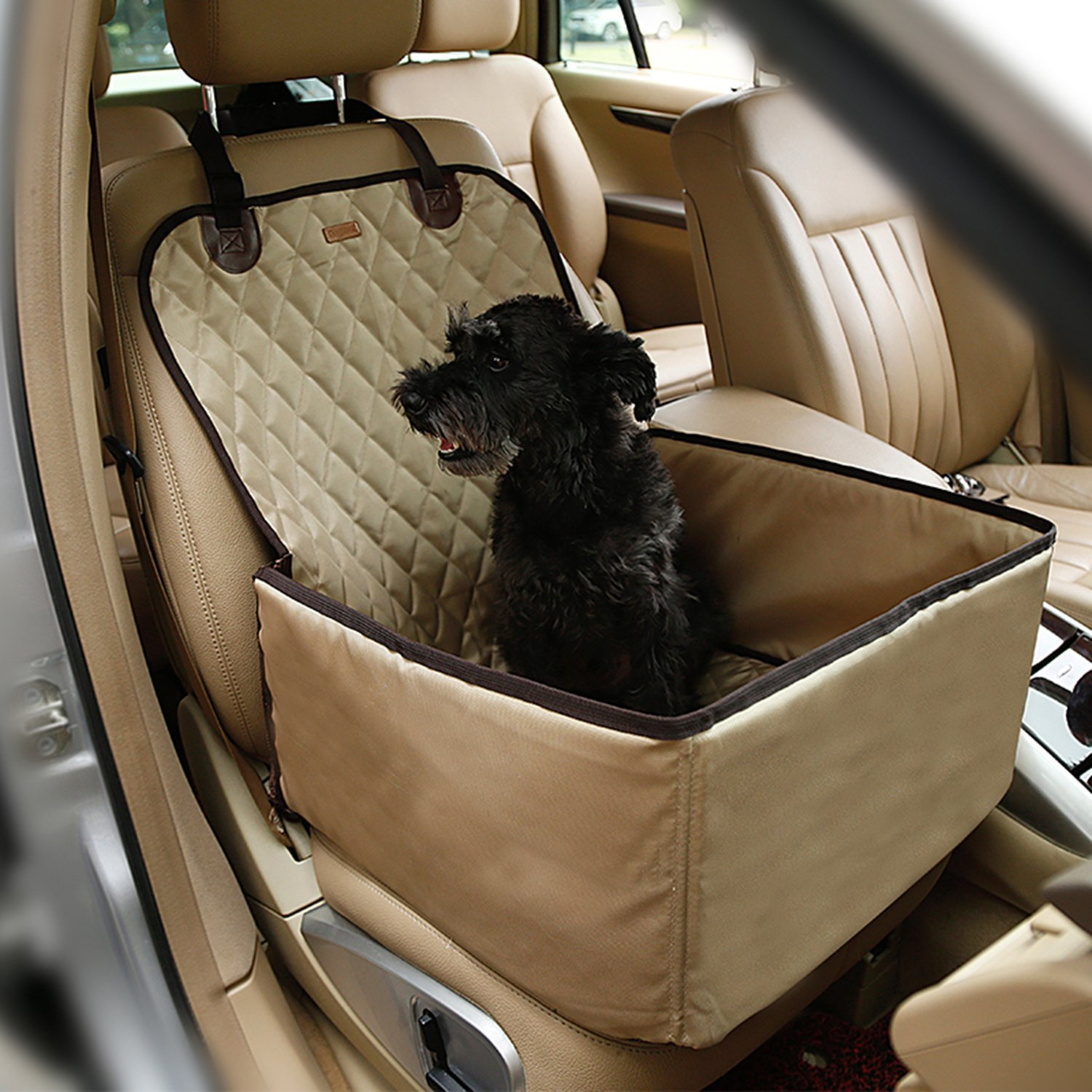 OSPet Waterproof Dog Safe Seat Multi-function Pet Front Seat Cover, Perfect for Small and Medium Pets