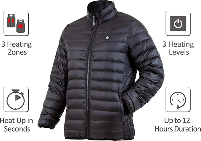 Hand Warmer Electric Coat Packable Puffer Dual Zone Wander 2.0 Venture Heat Womens Down Heated Jacket with Battery