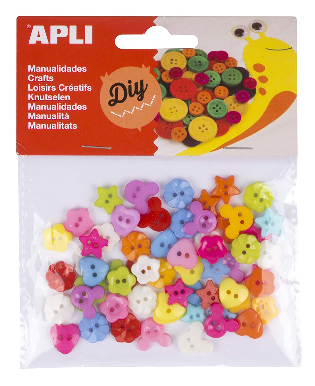 Newin Star Oficina Botones de Scrapbooking mezcla de coloridas peque/ños botones de madera para ni/ños de costura DIY Crafts 11 23 mm Pack de 100