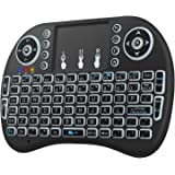 Neoteck Backlit Wireless Keyboard 2.4GHz Wireless 3 Colors Backlit XBMC Keyboards with Touchpad Mouse and Multimedia Keys for PC Google Android Smart TV Tivo Box Media Mini TV PC Stick HTPC IPTV Laptop Raspberry PI PS3