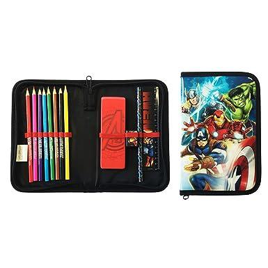 Estuche de lápiz infantil oficial de Marvel Avengers, negro/ rojo, talla única: Amazon.es: Ropa y accesorios