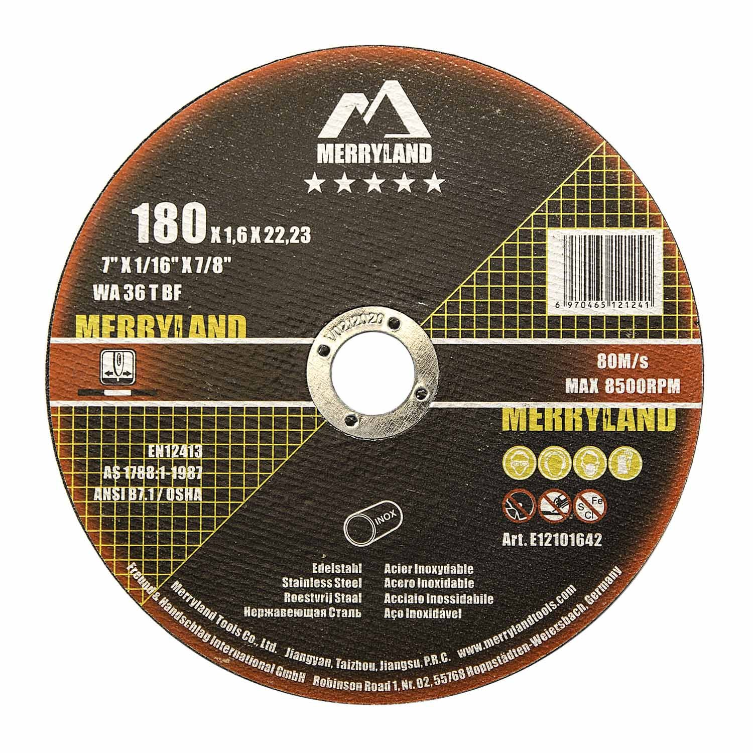 first rate thoughts on pretty nice Merryland 180 X 1.6 Expert-line Cutting Disc INOX Stainless Steel Metal  25PCS