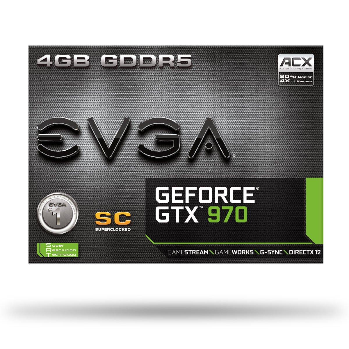 EVGA GeForce GTX 970 - Tarjeta gráfica con GeForce GTX 970 ...