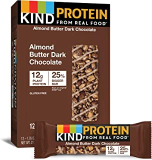 product image for KIND Protein Bars, Almond Butter Dark Chocolate, Gluten Free, 12g Protein