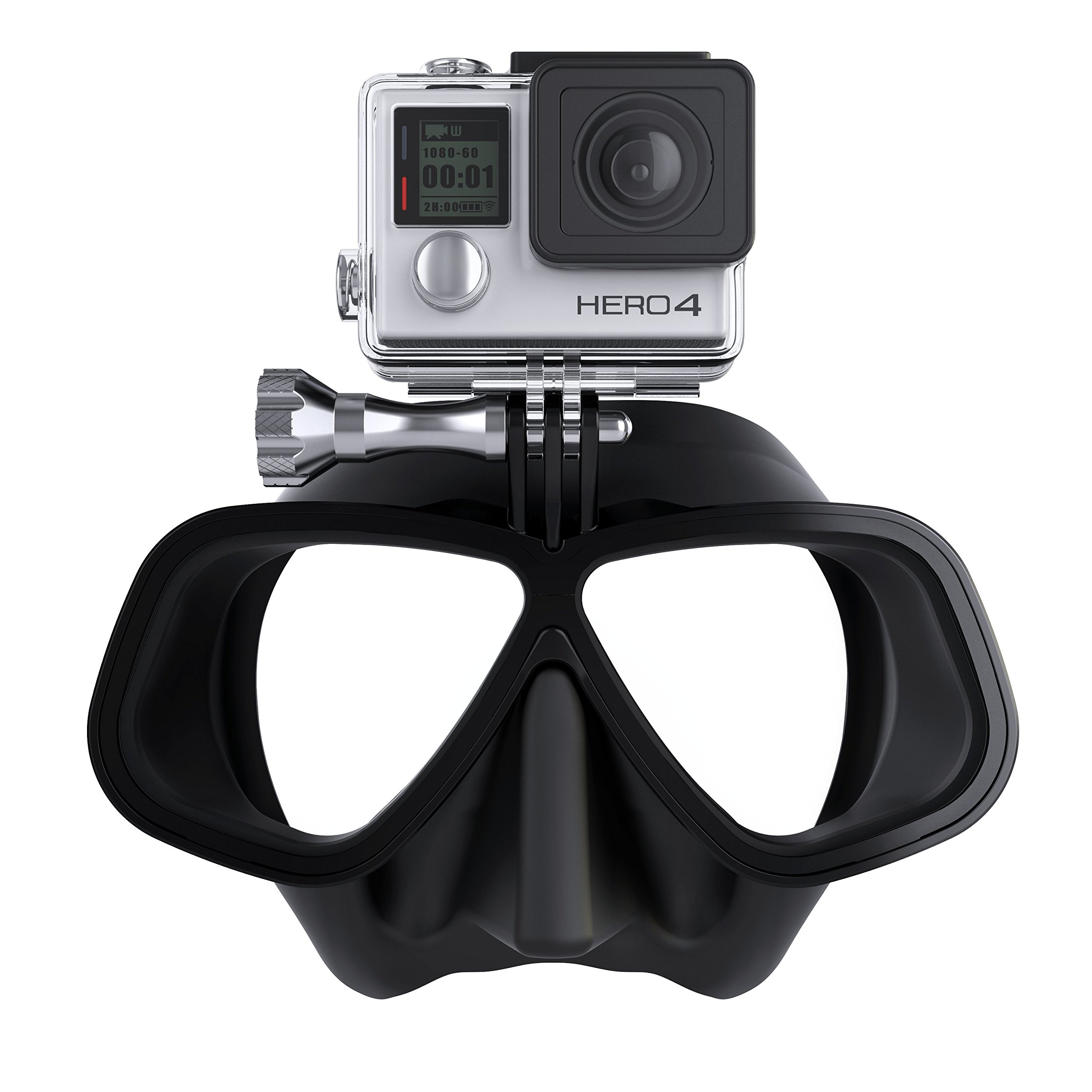 OCTOMASK - Compatible with Gopro - Dive Mask for Scuba and Snorkeling - Black by OCTOMASK