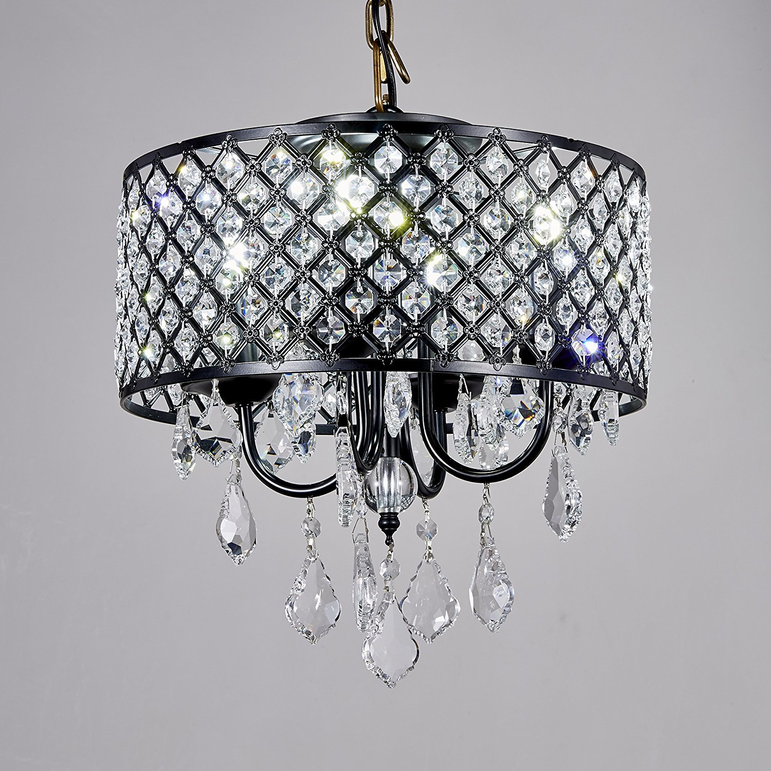 Broadway Black Classic Crystal Chandeliers Modern Lamps