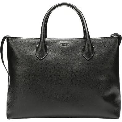 3566e7587a Furla Martha Noir Grand sac à main Convertible en cuir Saffiano ...