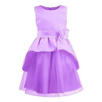 Disney Princesas Traje de fiesta para las niñas para bodas y celebraciones, color lila,