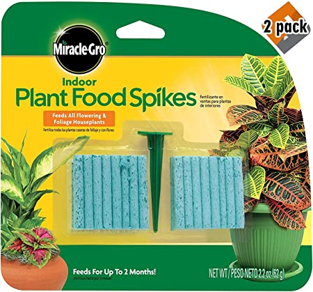 Amazon.com : Miracle-Gro 300157 Plant Food, 48-Spikes Indoor ...