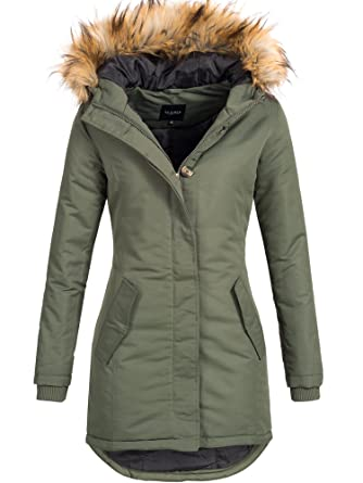 6693758d286e DESIRES Damen Envy Parka Lange Jacke Designer Winter-Mantel mit Kapuze aus  hochwertigem Material  Amazon.de  Bekleidung