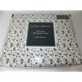 Laura Ashley Evie Red with Pink & Purple Floral 300TC Cotton Sheets, Queen