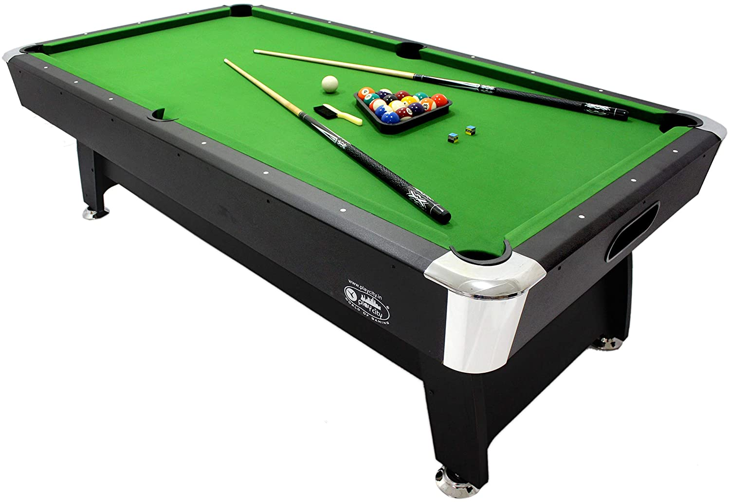 Buy Play In The City Pool Table 8Ft. X 4Ft Green American Style