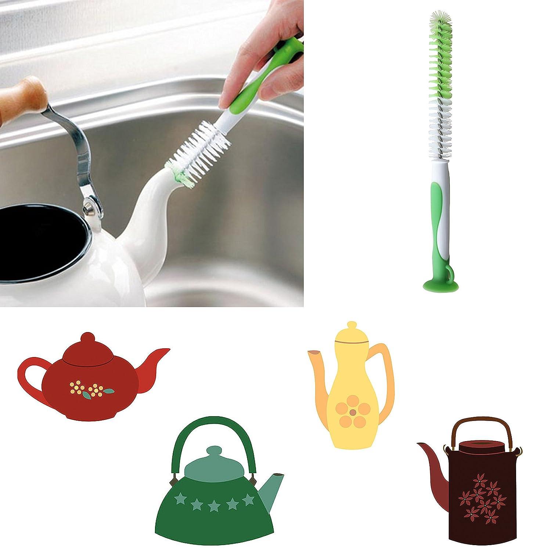 Juego de cepillos de limpieza para botellas de silicona, para lavado de vasos, botellas de bebé, tazas, cerveza de vino, cuello estrecho, botella de agua ...