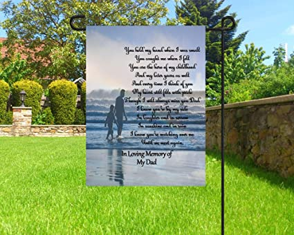 Nicepodllc Personalized Garden Flag In Memory Of Dad Personalized Flag Sympathy Flag Cemetery Decoration Best Gift For Your Family Garden Outdoor