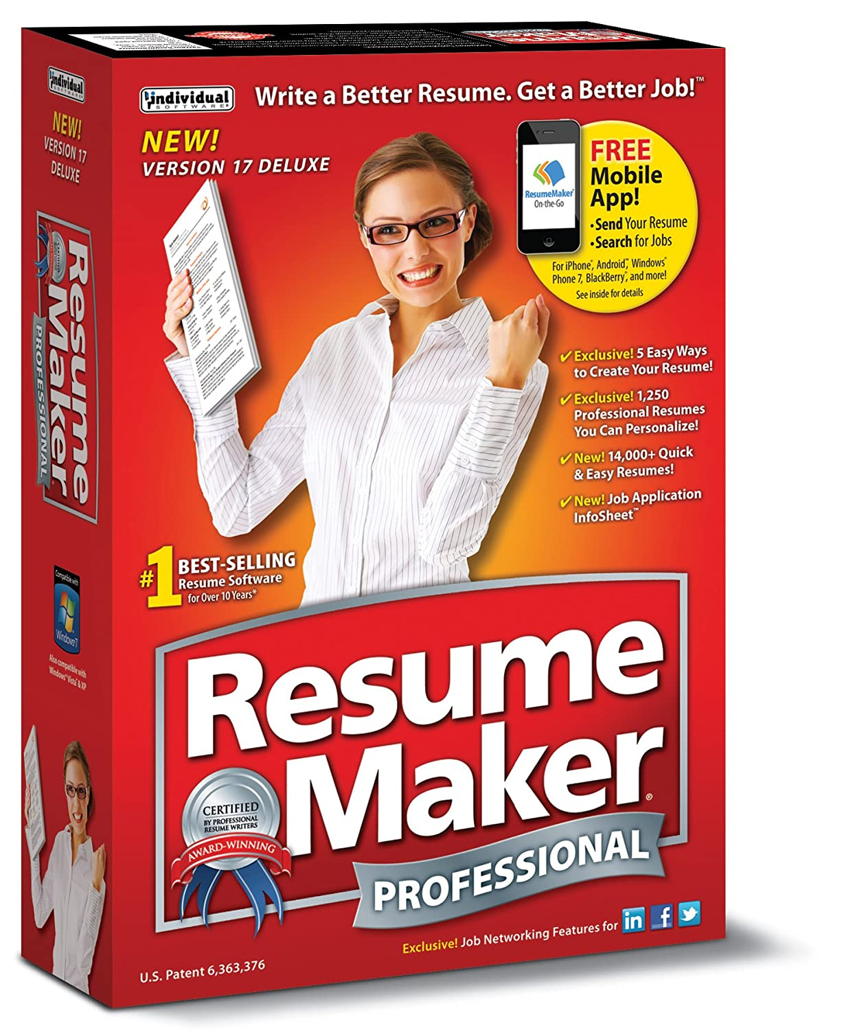 amazoncom resumemaker professional deluxe 17 download software - Resume Maker Software Download
