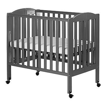 Ordinaire Dream On Me 3 In 1 Folding Portable Crib, Steel Grey