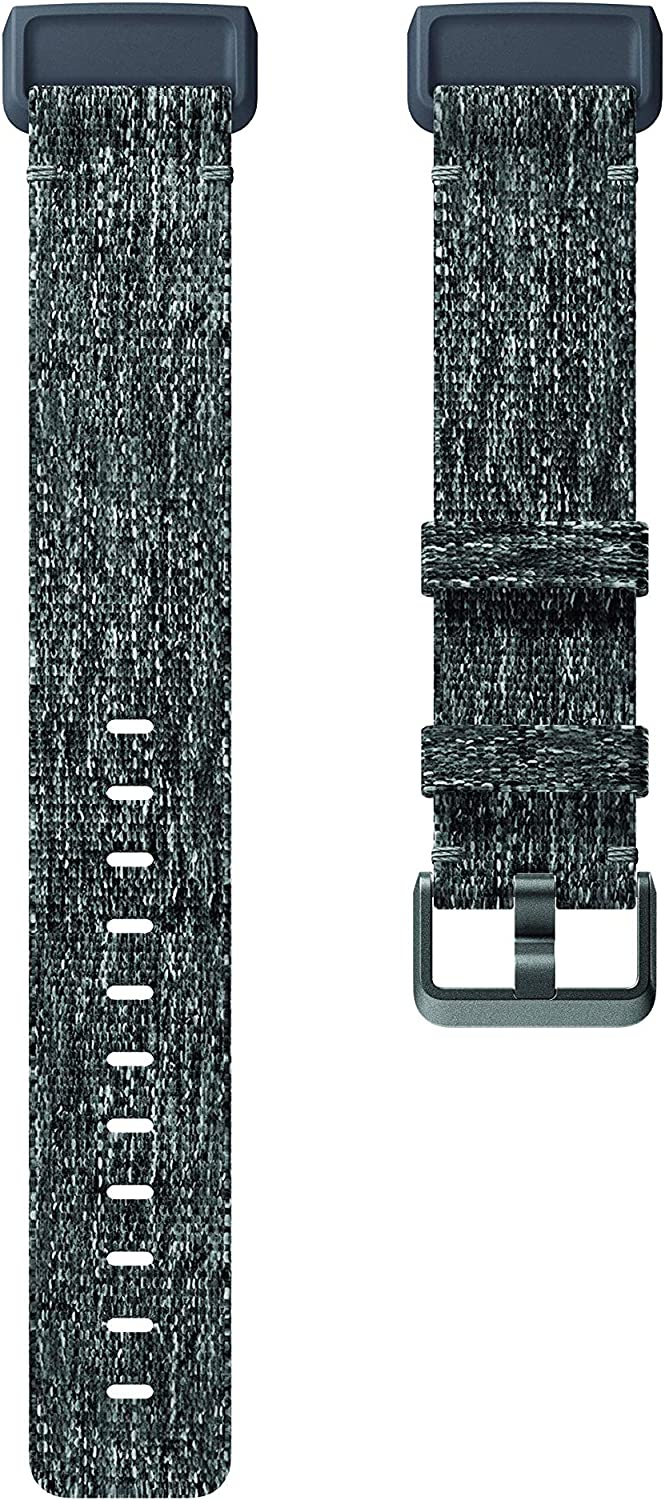 Fitbit Charge 3 Accessory Band, Official Fitbit Product, Woven, Charcoal, Small