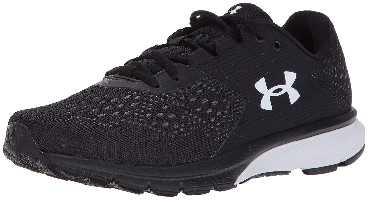 Under Armour Women's Charged Rebel Running Shoe B01N6G5W63 9 M US|Black (001)/Rhino Gray