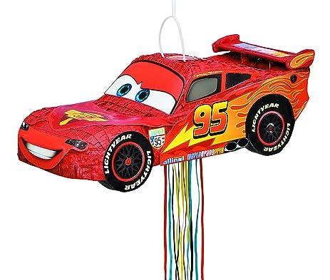 Amazoncom Disney Cars Lightning McQueen Pinata Pull String