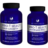 Vie Naturelle Hair Loss Vitamins Supplement for Fast Hair Growth - DHT Blocker with 5,000mcg Biotin for Women and Men