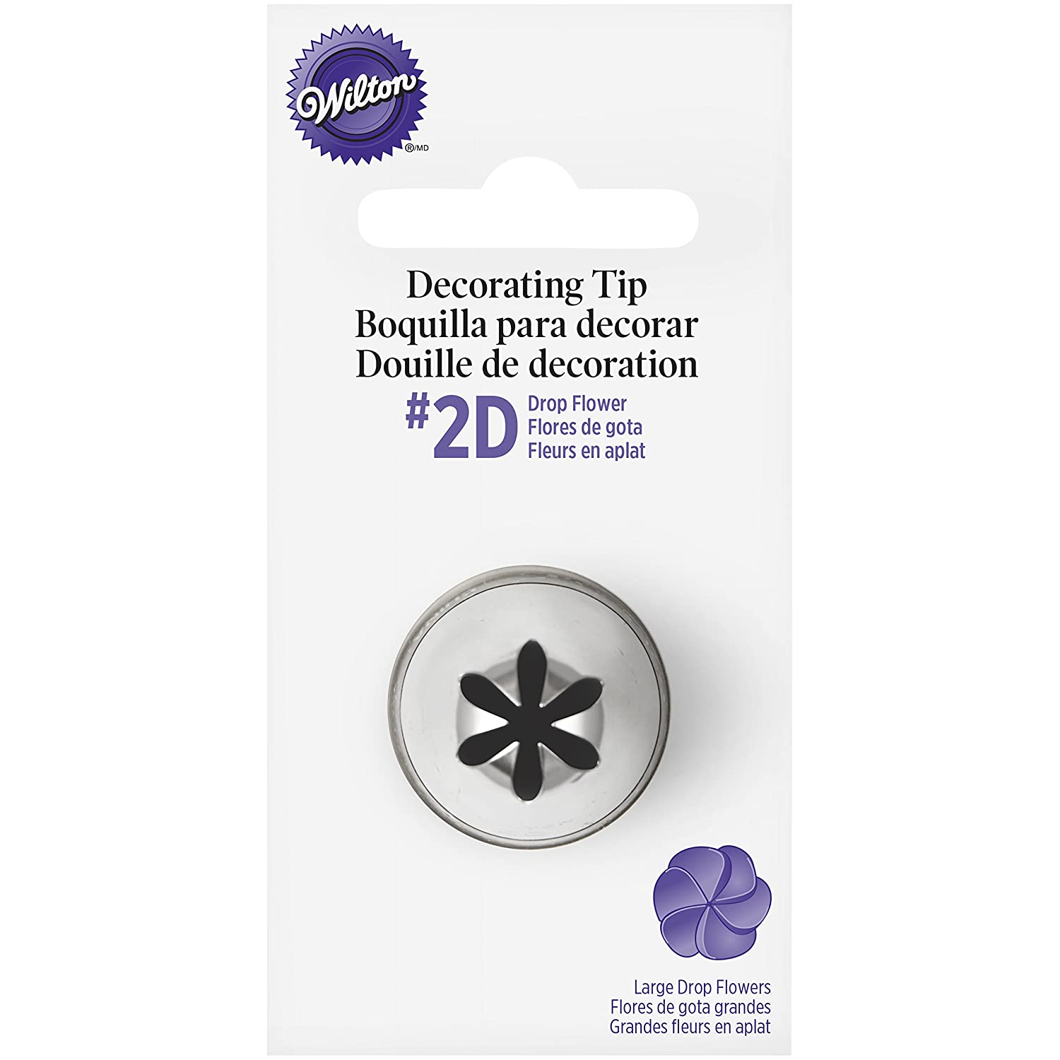 Wilton No.2D Decorating Tip, Drop Flower W418-2004