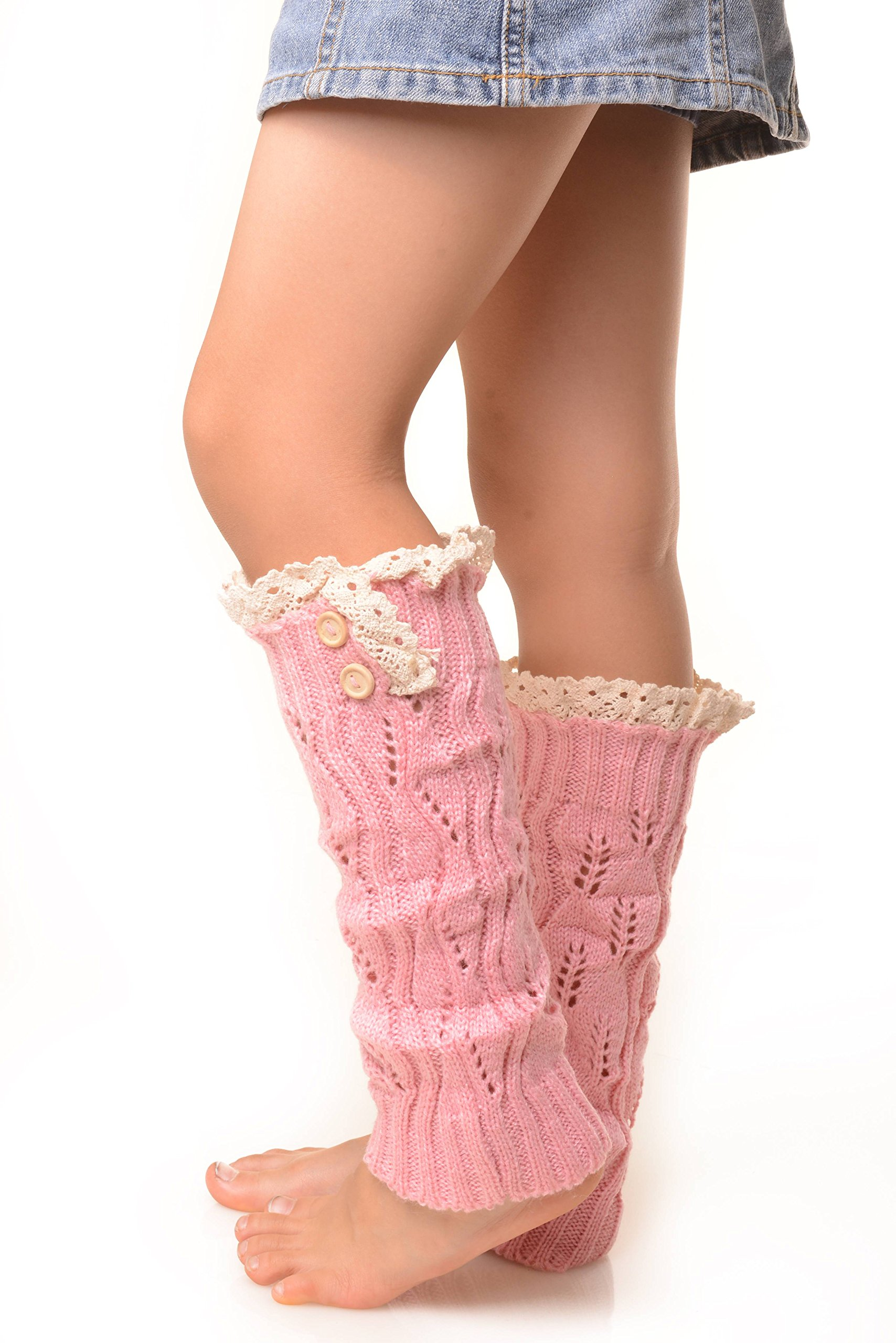 ICONOFLASH Girl's Sweater Knit Leg Warmers with