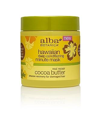 Alba Botanica Real Repair Cocoa Butter Hawaiian Deep Conditioning Minute  Mask, 5 5 oz