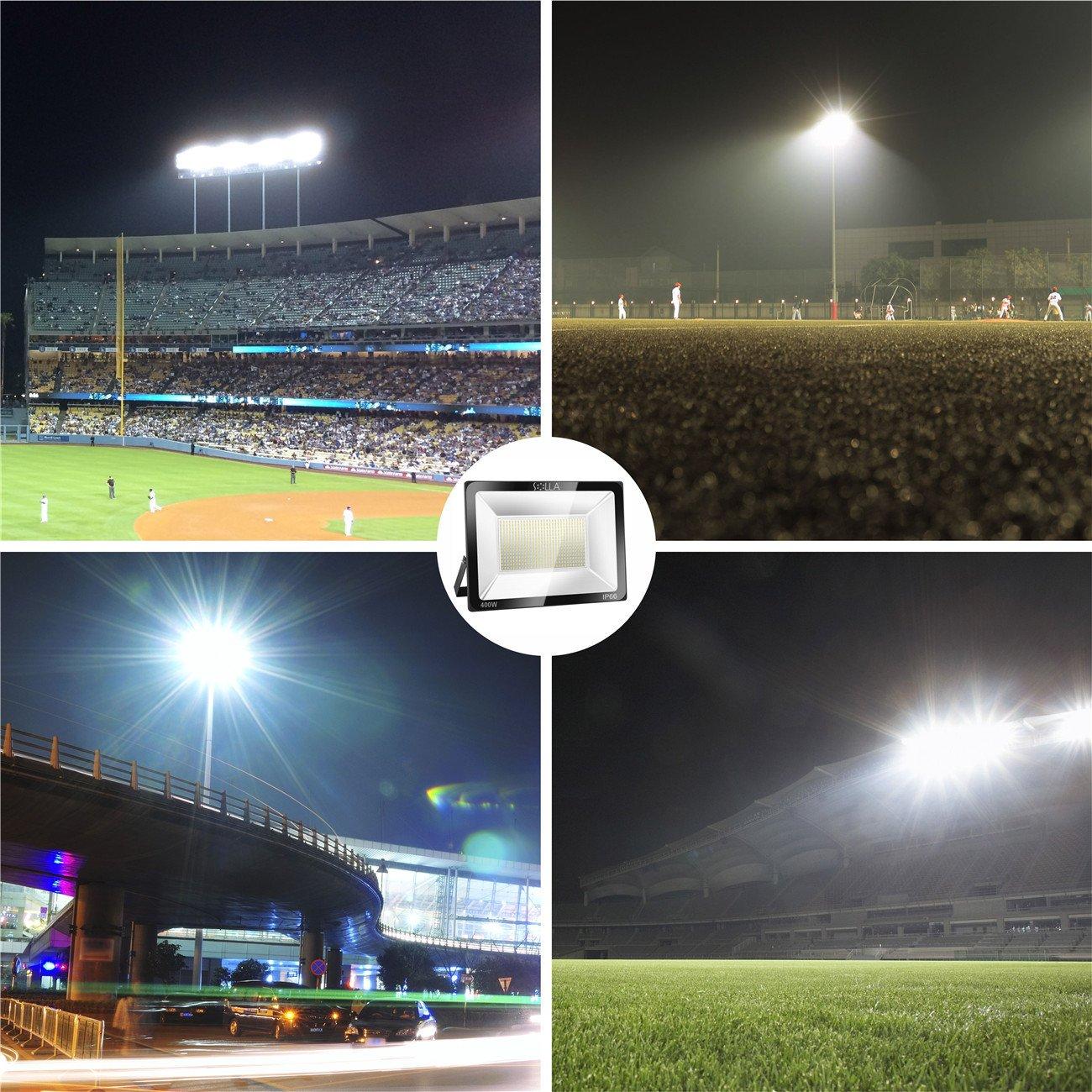 Foco LED 100W IP66 Luz de Seguridad Exterior Impermeable Plazas Almac/én etc. Calles 8000LM Carreteras Jard/ín Blanco C/álido 3000K Garaje Parking Foco Exterior de Pared para Patio