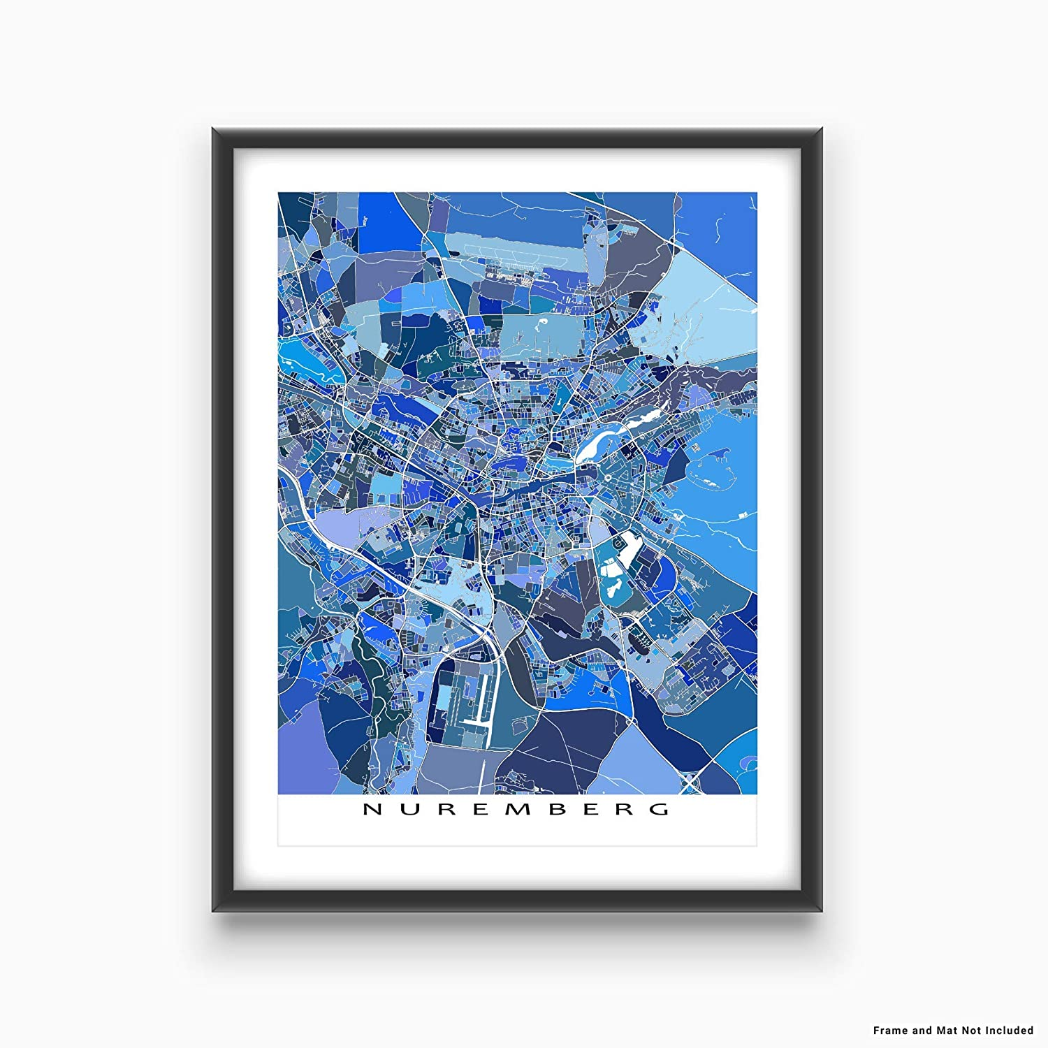 Nuremberg Map Of Germany.Amazon Com Nuremberg Map Print Germany Europe City Wall