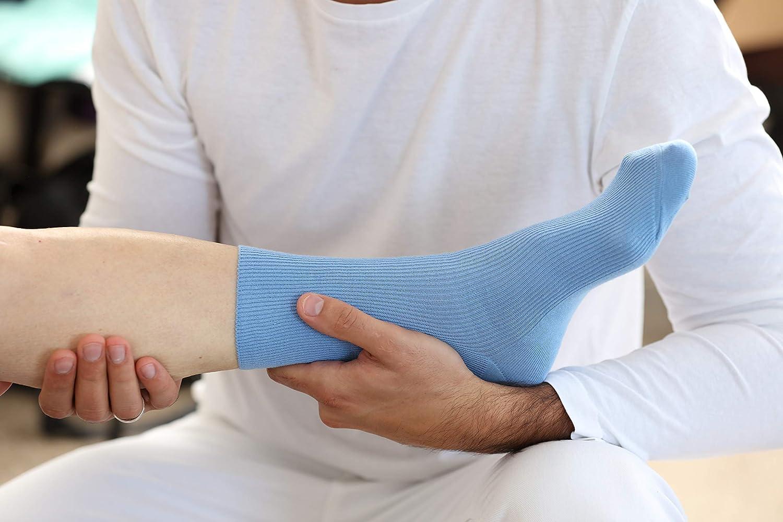 C/ómodos y Delicados 8 pares de Calcetines SIN EL/ÁSTICOS de Algod/ón para DIABETICOS Para Mujeres y Hombres Made en Europa para Piernas HINCHADAS y VARICES Rainbow Socks Colores Brillantes