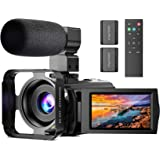 Video Camera with Microphone, Anteam FHD 1080P 30FPS 24MP Digital Vlogging YouTube Camera Camcorder Recorder 16X Digital…