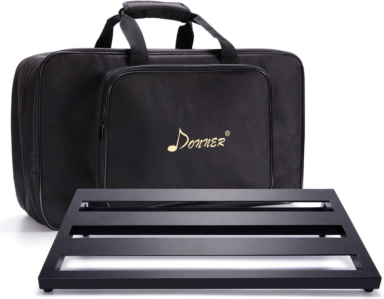 Donner - DB-3 Pedalera de efectos Ligero y Portable para Guitarra con Cinta de Gancho y Bucle