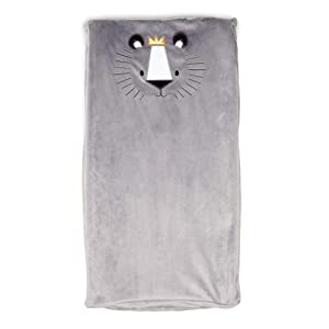 Boppy Changing Pad Cover, Gray Royal Lion, Minky Fabric