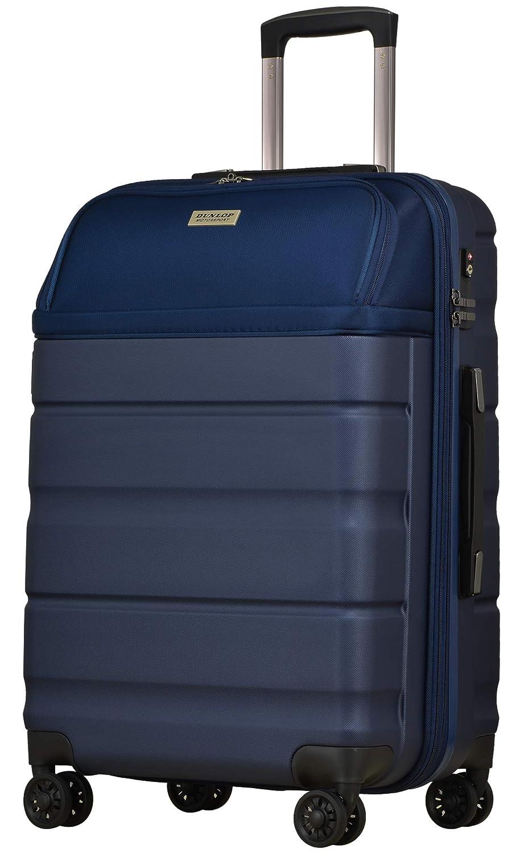 [DUNLOP] スーツケース キャリーバッグ キャリーケース フロントオープン 横型 縦開き 機内持ち込み ファスナー ハードキャリー TSAロック ジッパー 8輪キャスター B07P1S423M ネイビー Sサイズ/機内持ち込み対応[32~37]