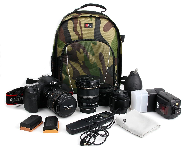 Camuflaje Resistente Nylon mochila para Canon EOS 1200D//EOS 650D//EOS 1100D