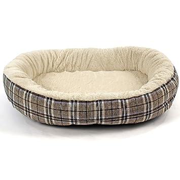 Cama para perros ortopédica de yute suave, a cuadros escoceses.: Amazon.es: Productos para mascotas